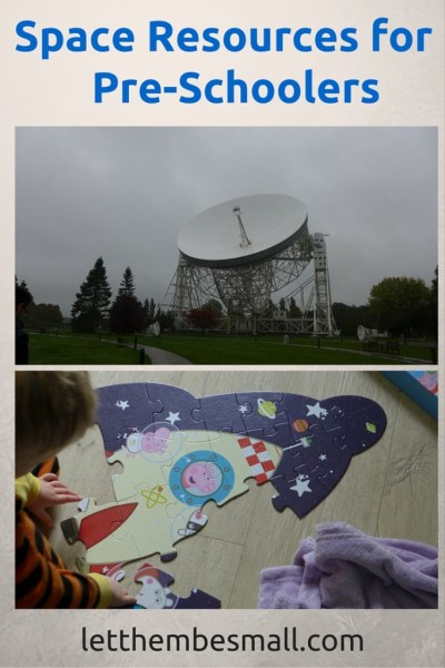 Space Resources for Pre schoolers includes ideas for days out, books and jigsaws