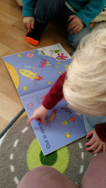 space colour sticker book