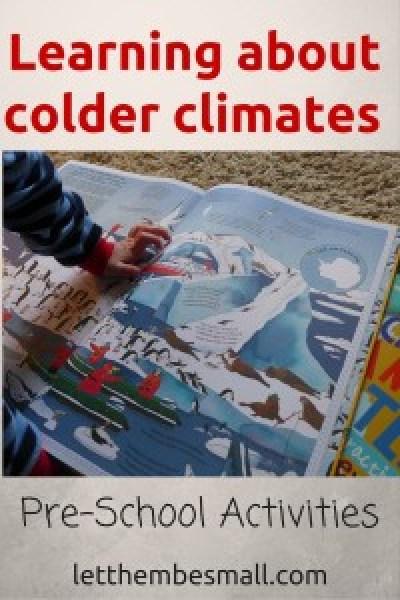 Colder Climates Pre School Activities
