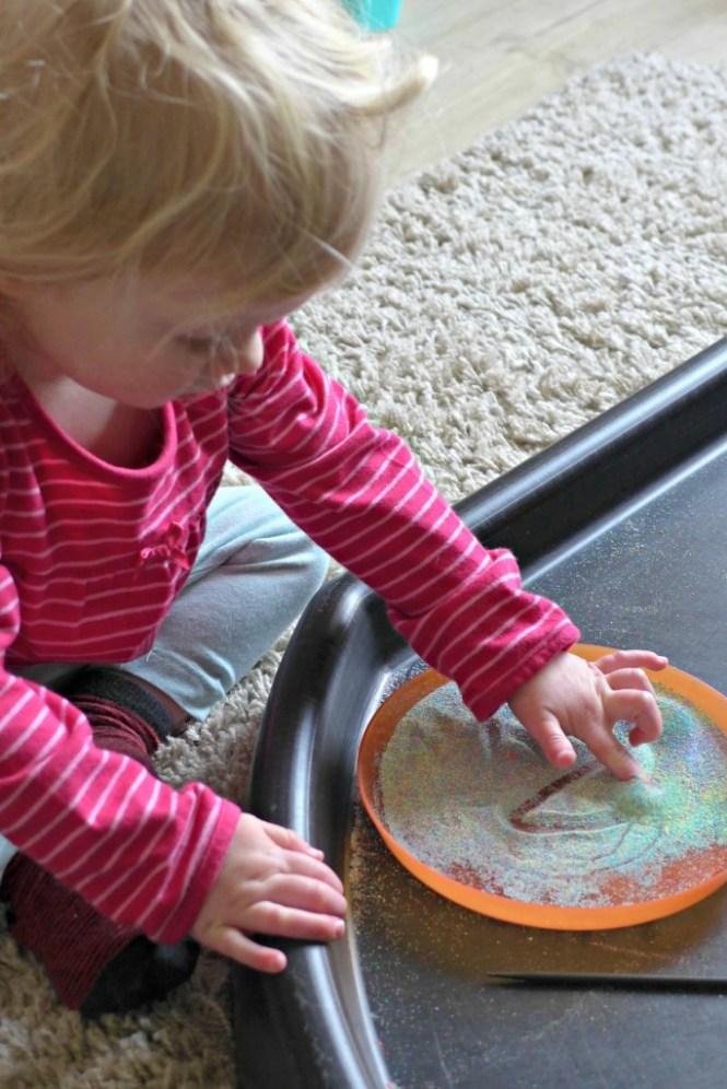 sand mark making