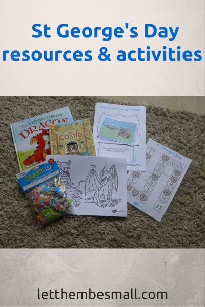 St George's day is marked on 23 April  - see here for a range of pre school activities and resources to mark the day
