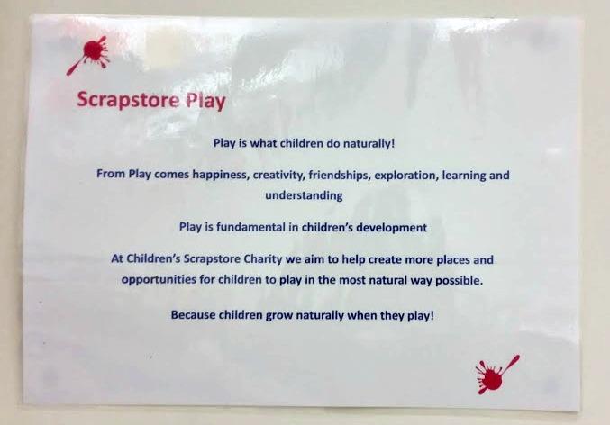 Children's scrapstore super saturday event
