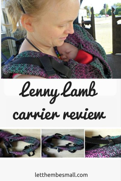 Detailed review of the lenny lamb soft structured carrier. Must read for all babywearers
