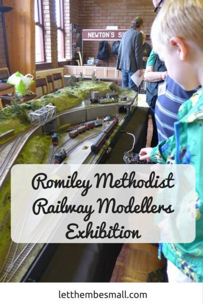 The Romiley Methodist Railway Modellers Exhibition is always a good day out with children