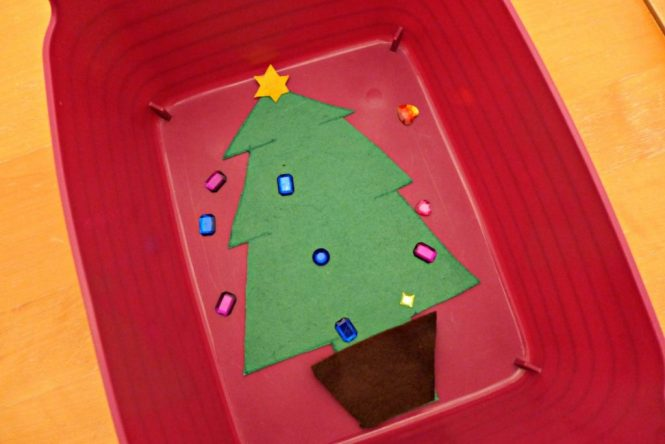 Christmas tree maths for pre schoolers
