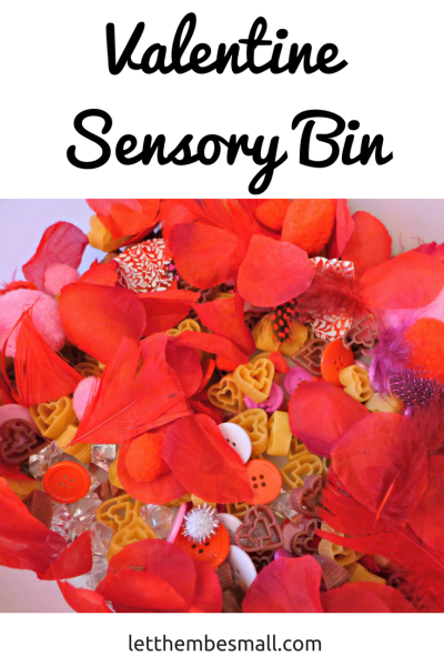 this valentine sensory bin is perfect for little hands to get to work with
