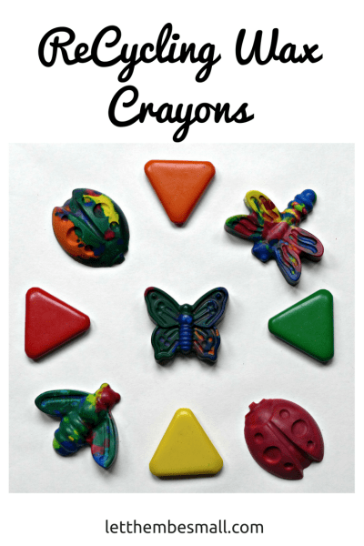 recycling wax crayons is a fun way to use up old broken crayons to create new fun ones