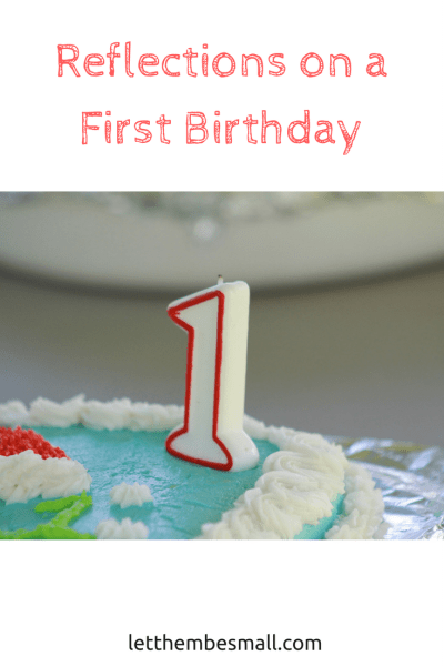 as a third baby turns one  here are some reflections on a first birthday