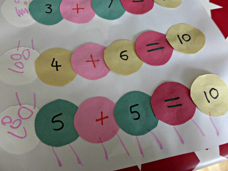 Fun number bond activity for pre schoolers