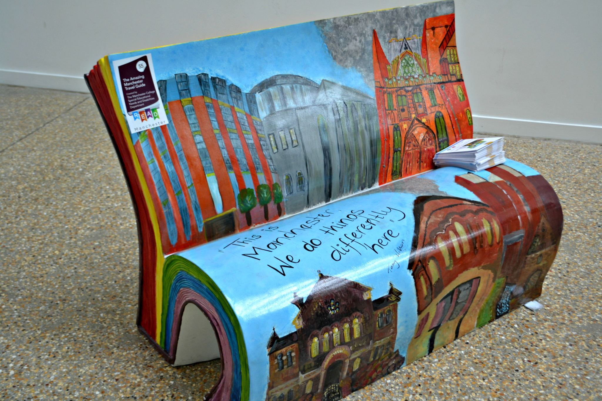 Manchester Book Benches literacy trust