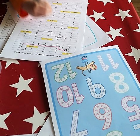 skip counting with free printable