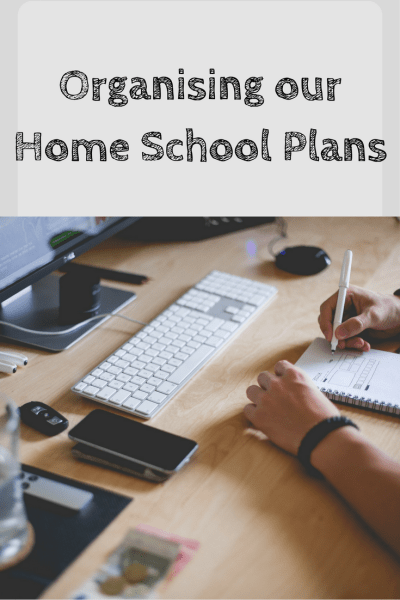 organising our home school