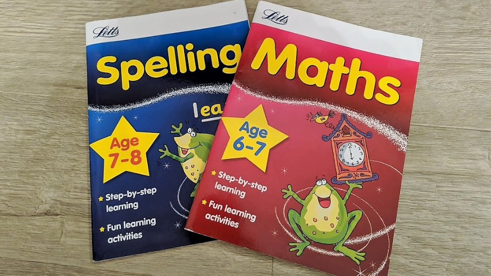letts revision spelling and maths books