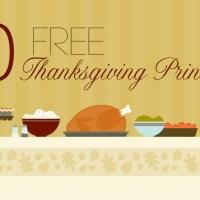10 Free Thanksgiving Printables Links