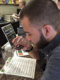 Alex sampling the port