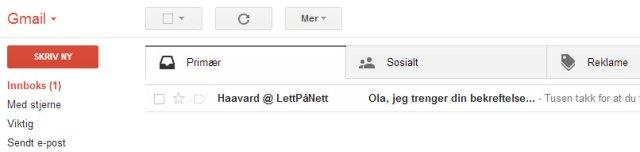 bekrefte-email