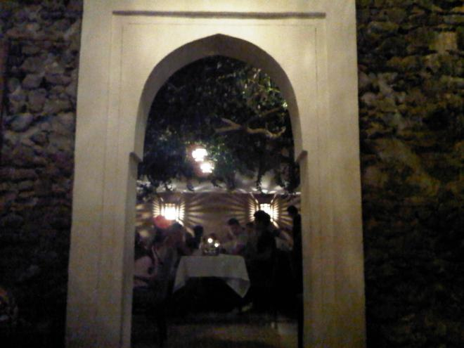 "The arched door leading into the ""jardin"".. at the exquisite Salama..."