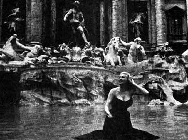 "Anita Ekberg in the Fontana di Trevi in ""3 coins in a fountain""..."
