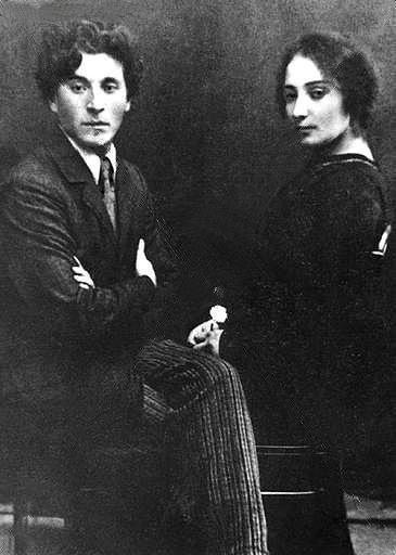 Marc Chagall and his wife Bella Rosenfeld...