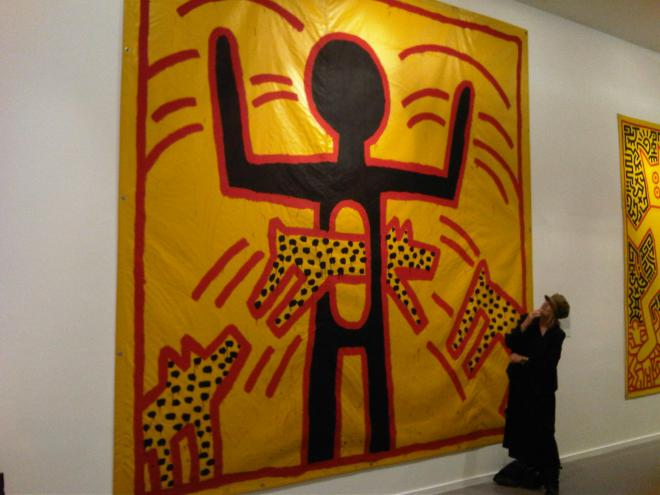 Untitled painting by Keith Haring (1982)...