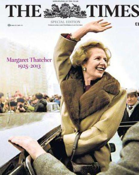 Margaret Thatcher in Moscow in 1987...