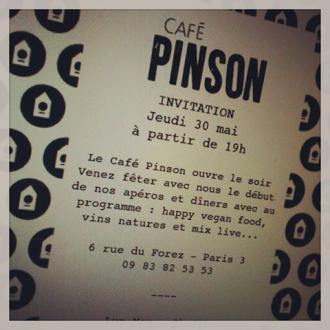 Café Pinson... evening opening invitation...