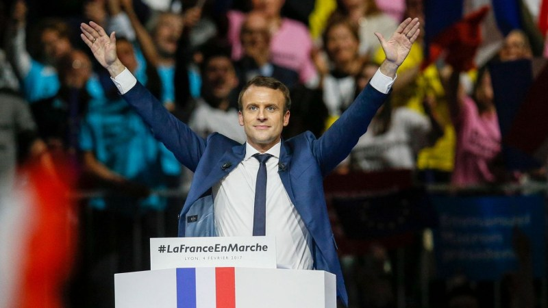 head-of-the-political-movement-en-marche-or-onwards-and-candidate-for-the-2017-presidential-election-macron-reacts-after-delivering-his-speech-during-a-campaign-rally-in-lyon_5794617