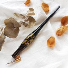 Porte-plume coudé artisanal