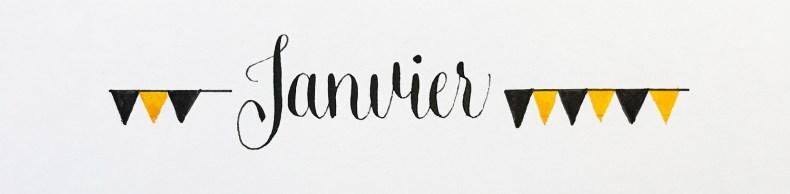 Calligraphie simple et bannière