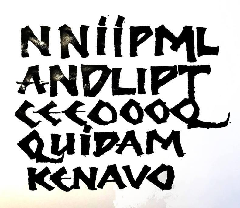 #rulingpen #tireligne #calligraphy #calligraphie #moderncalligraphy #gestuelle