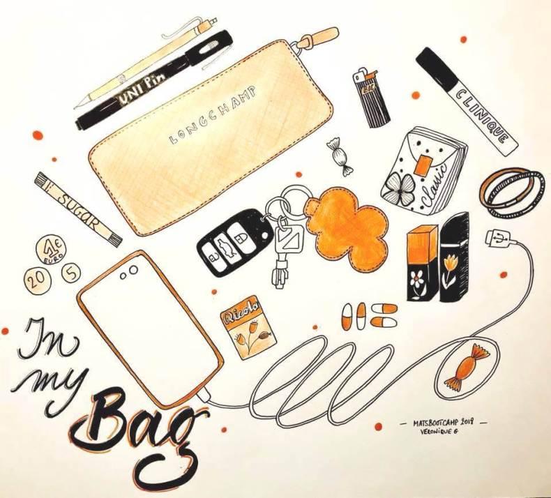 #inmybag #matsboocamp2018 #sketching
