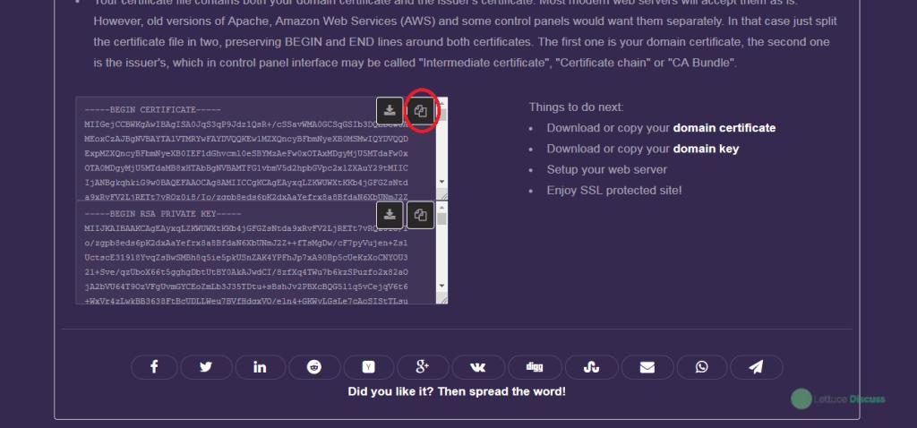Free SSL Certificate Wizard Step 22