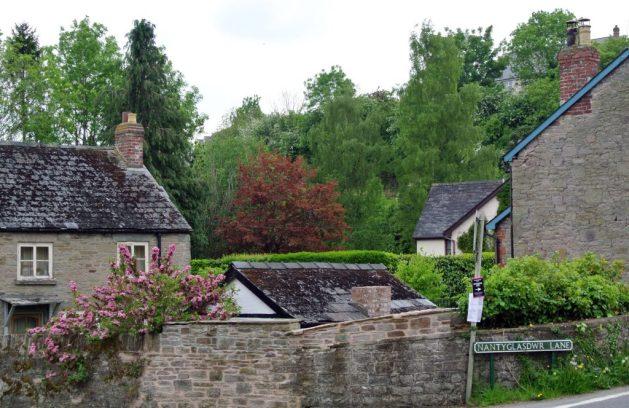 Hay-on-Wye paese dei libri del Galles: cottage fuori dal centro abitato