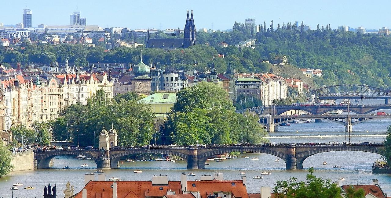 Praga, ponti, panorama