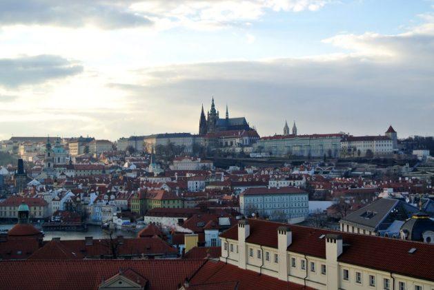 Klementinum, Praga: vista dalla torre astronomica