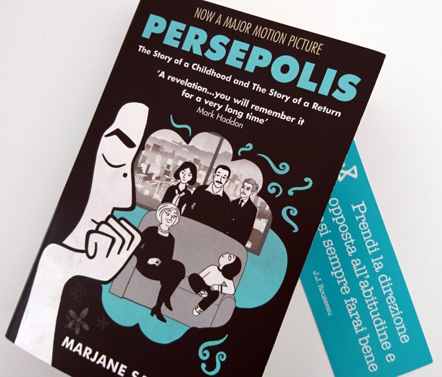 Persepolis, Marjane Satrapi: libro, copertina