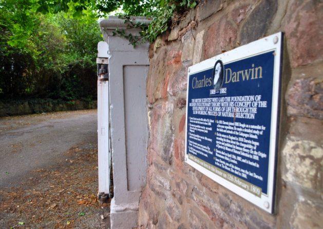 Shrewsbury, Inghilterra: Mount House, casa natale di Charles Darwin, ingresso