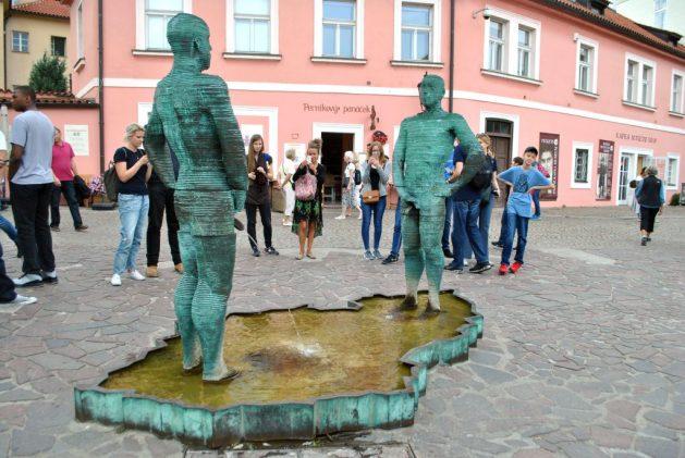 Praga, piazza antistante il Kafka Museum