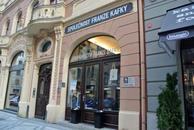 Praga, libreria Franz Kafka