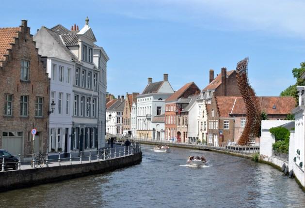 Viaggio letterario a Bruges, vista dal pont du Moulin