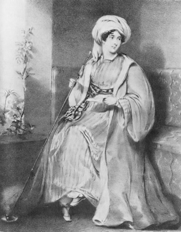 Lady Hester nella sua dimora