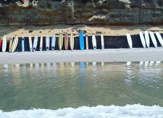 Softboards at Moonlight Beach