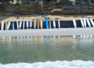 Softboards at Moonlight Beach