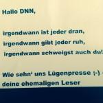 Brief an die Redaktion der Dresdner Neuesten Nachrichten, verteilt am 11.08.2015 via Twitter @CRDNN