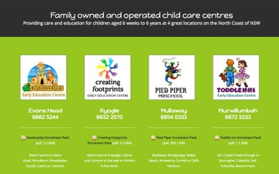 Child Care Centres on the North Coast: 4 sites in one!