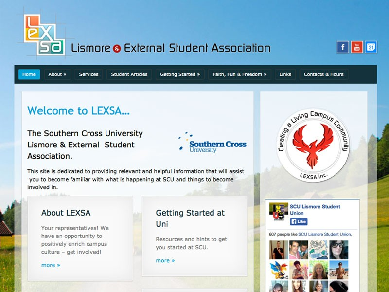 A website refresh: LEXSA – Southern Cross University Lismore & External Student Association
