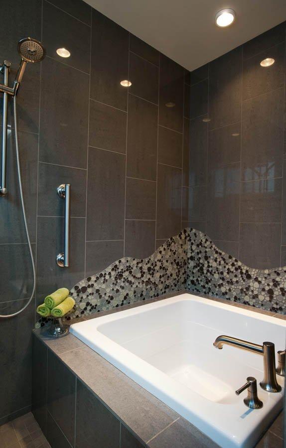 Exquisite Bathroom Remodeling In Portland OR L Evans Design Interesting Bathroom Remodeling Portland Set