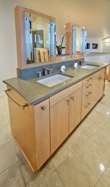 Northwest-Contemporary double vanity