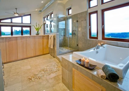 Northwest-Contemporary master bathroom idea
