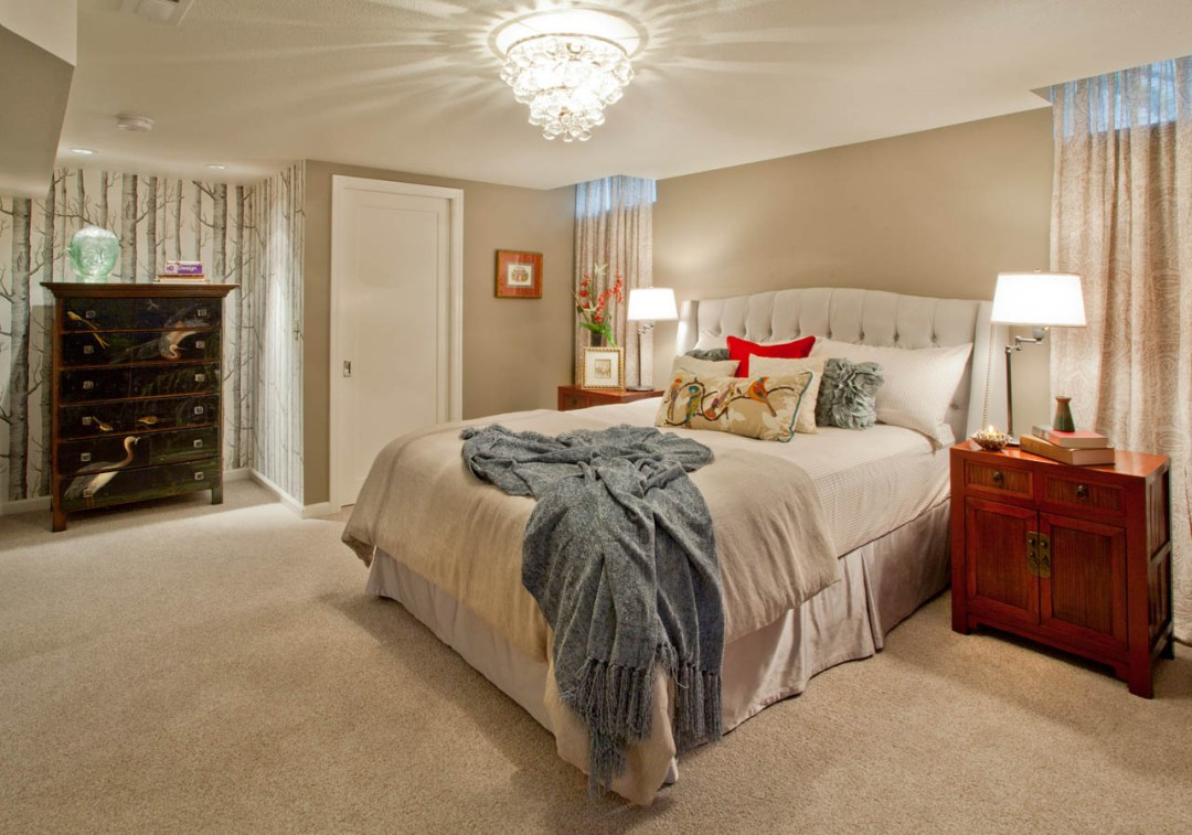Retro-Transitional master bedroom concept